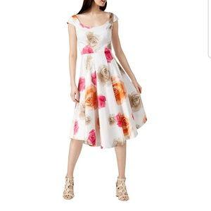 Calvin Klein Floral Print Daytime Midi Dress